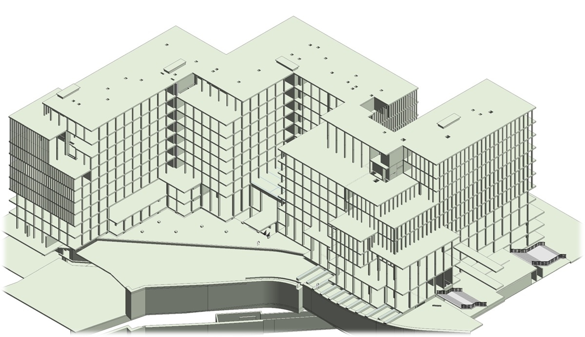 Structural 3D BIM Model of Multi-storey Mix-used Building